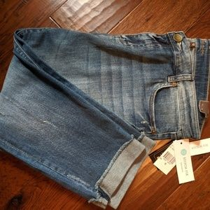 Kut from the Kloth Frayed Cropped Straight Leg Jea